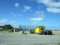 Trampolin am Strand